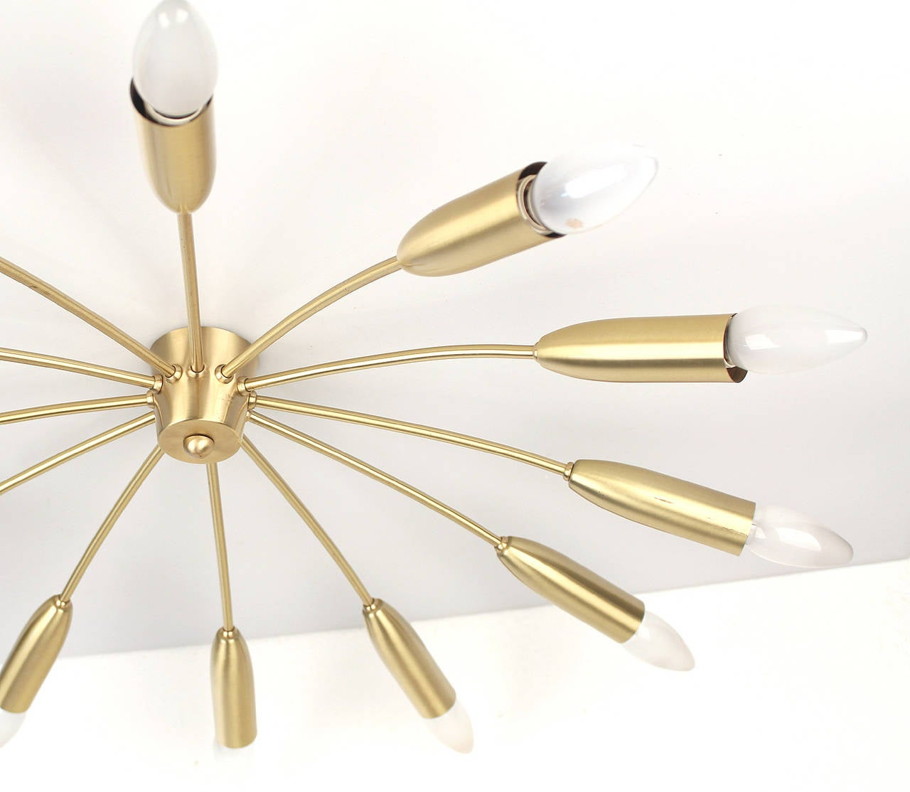 Brass Chandelier Ceiling Lights : Sputnik flush mount light antique lighting brass ceiling