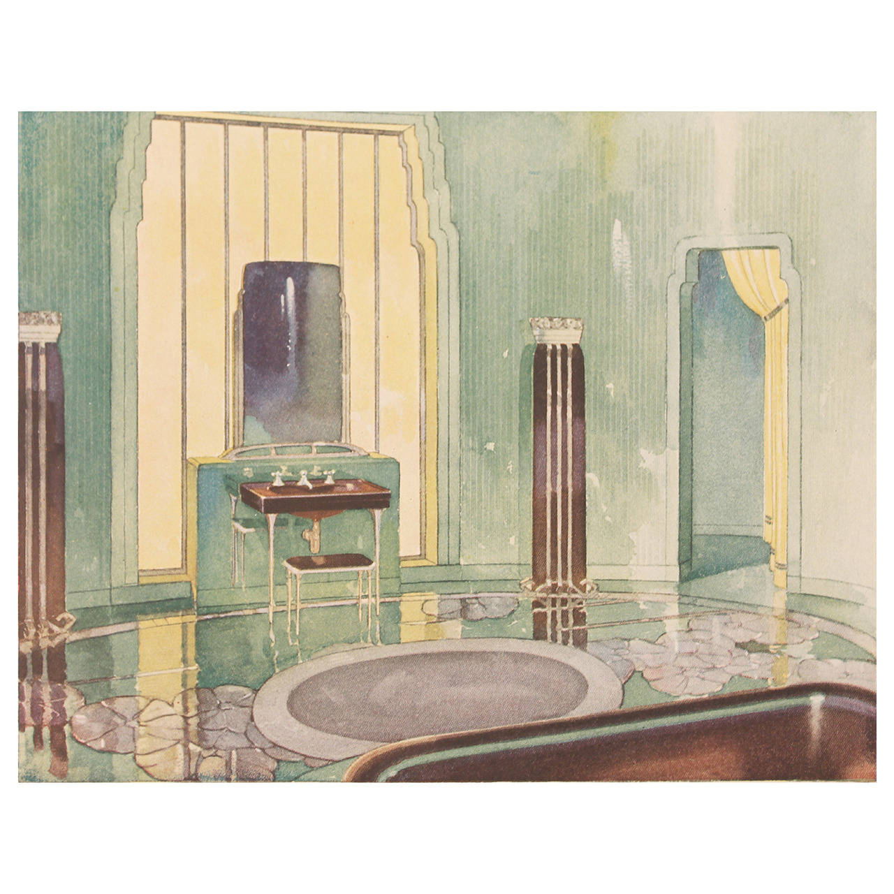 1931 art deco bathroom interior design architecture reference book at 1stdibs Bathroom design pictures books