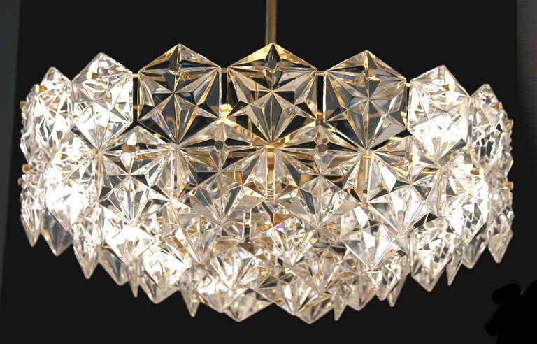 Pair Kinkeldey Crystal Chandelier Antique Lighting Ceiling