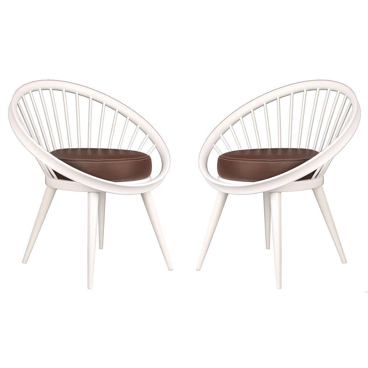 Pair of Yngve Ekström Loop or Circle Lounge Chairs