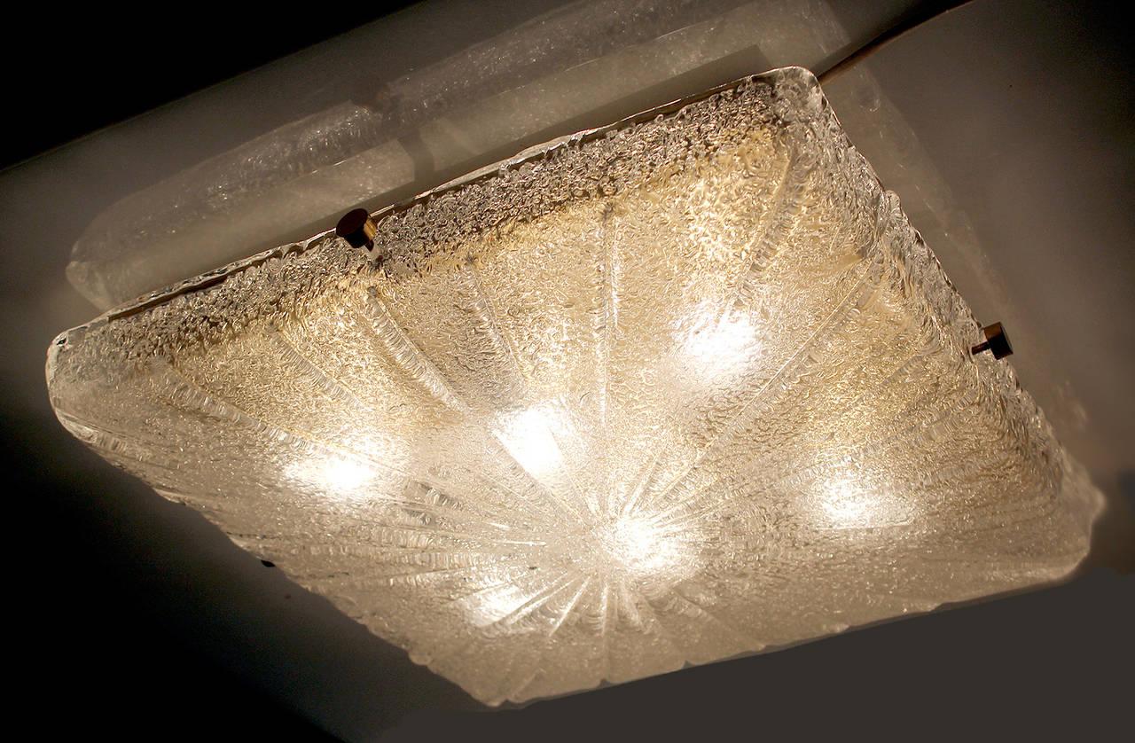 Ceiling Lights Very : Very large kalmar sunburst murano glass flush mount light