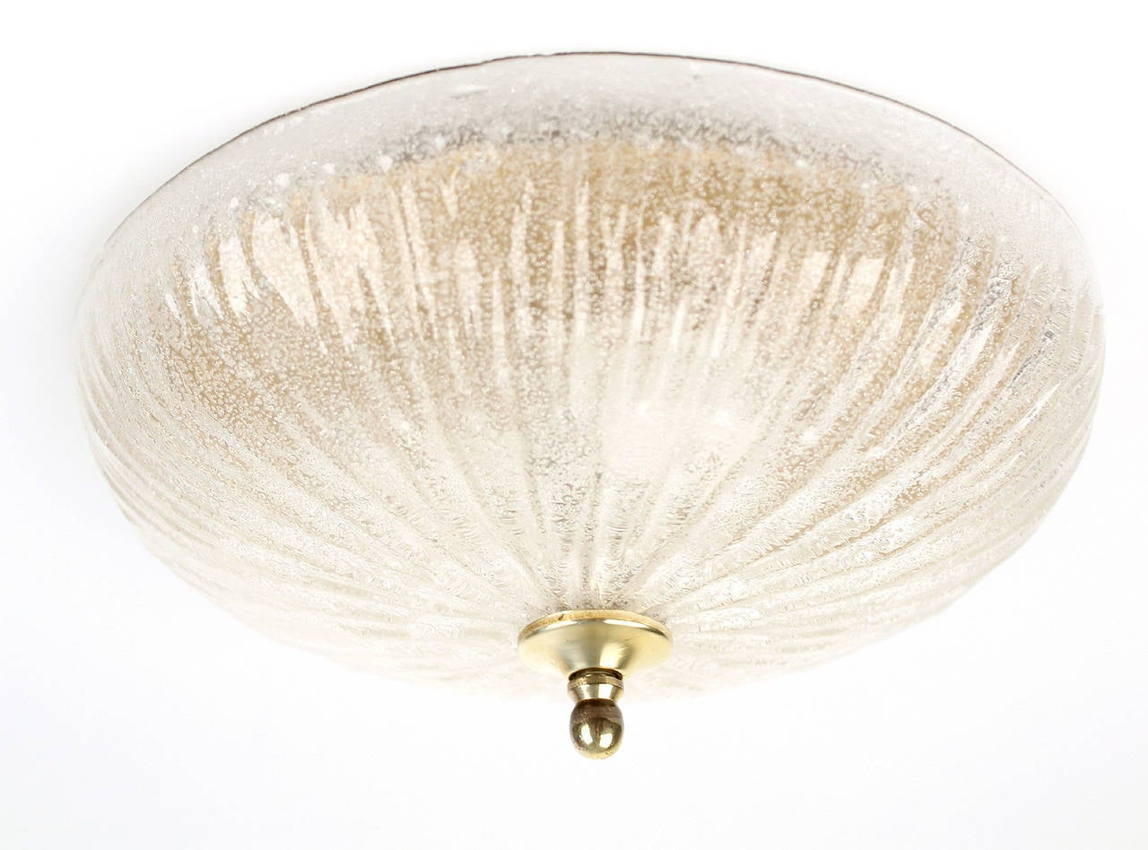 Wall Sconces Flush Mount : Mid Century Glass Flush Mount Light Sconce Wall Fixture For Sale at 1stdibs