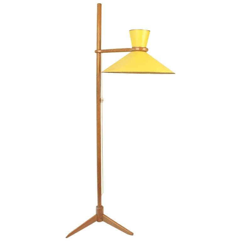 1950 jacques hauville floor lamp luminaire 800 for sale at 1stdibs. Black Bedroom Furniture Sets. Home Design Ideas