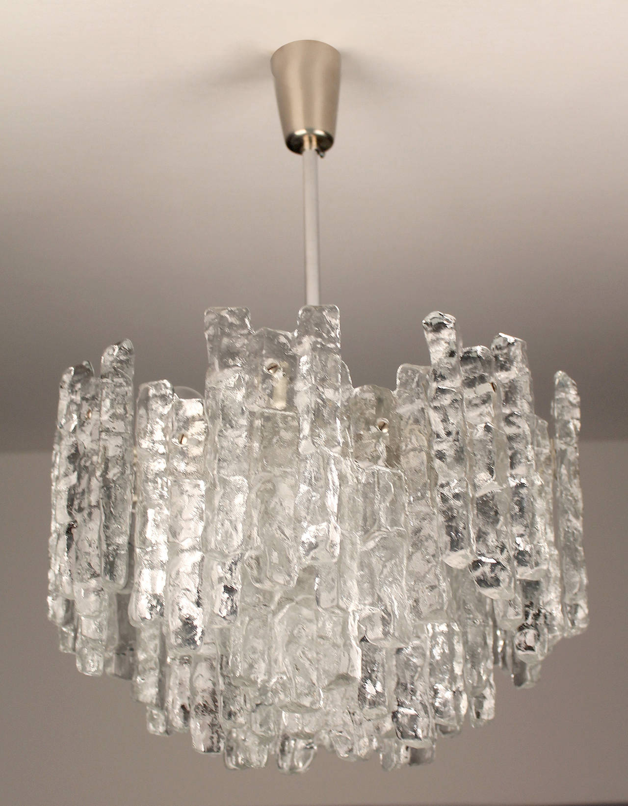 Large kalmar murano glass chandelier 1960s modernist design at 1stdibs kalmar murano glass chandelier circa 1960s austriaree tiers structure gathering 28 structured aloadofball Images
