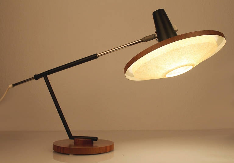 Executive Desk Lamp : Large adjustable swiss executive desk lamp at stdibs