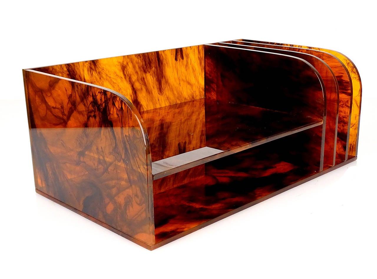 Aldo tura style desktop divided tray organizer desk - Decorative desk organizers ...