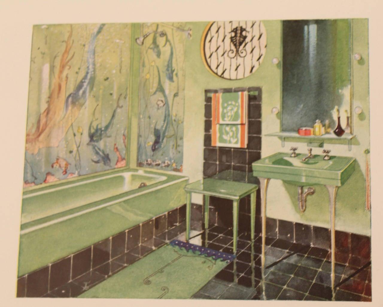 1931 Art Deco Bathroom Interior Design Architecture