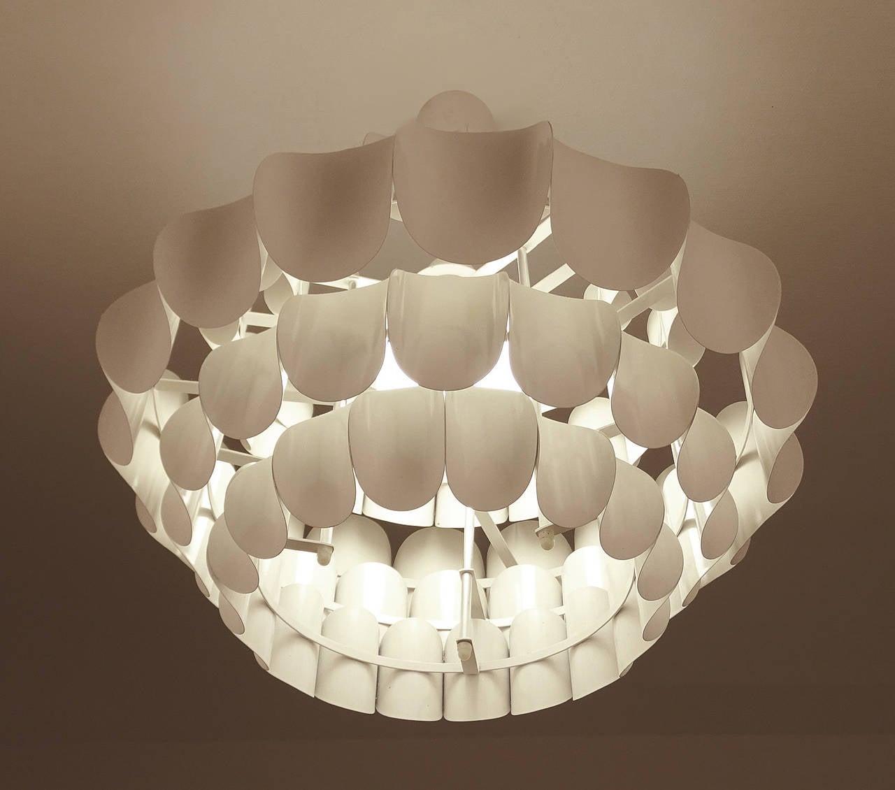 Very large danish modern style chandelier 1970s modernist for Very modern lighting