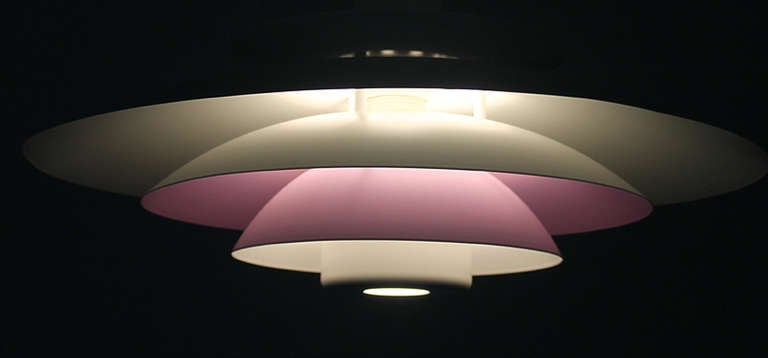 Danish Form Light Multi Layered Chandelier Purple White 8