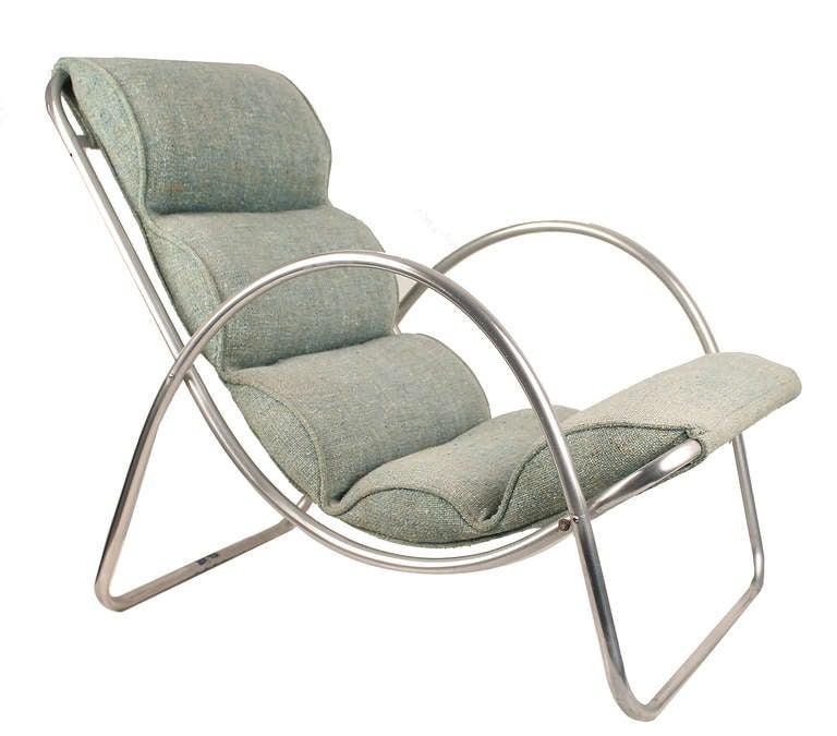 Pair Halliburton Lounge Chairs, 1930s  Art Deco Machine Age Modernist Design In Good Condition For Sale In Bremen, DE