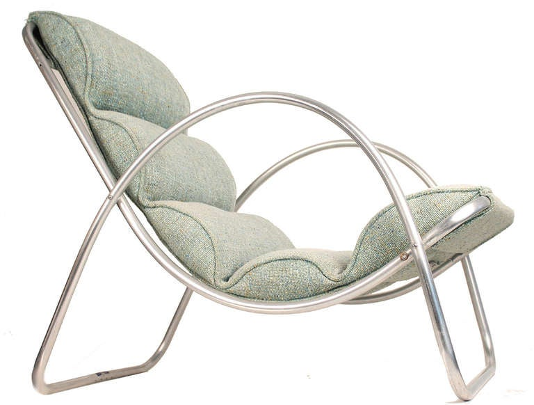 Mid-20th Century Pair Halliburton Lounge Chairs, 1930s  Art Deco Machine Age Modernist Design For Sale