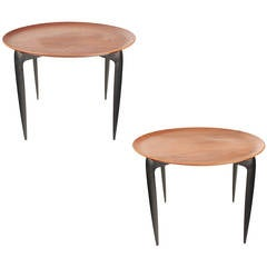 Pair Fritz Hansen Side Couch Table, Engholm Willumsen Danish Modern Desig