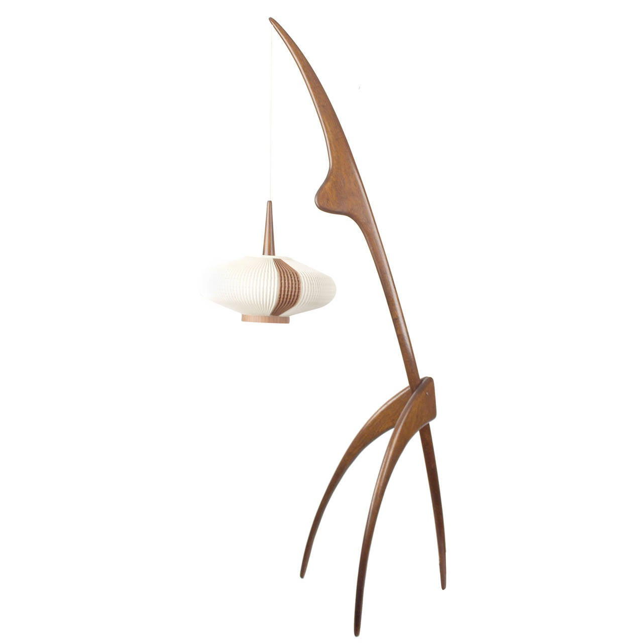 rispal praying mantis floor lamp scandinavian danish at 1stdibs. Black Bedroom Furniture Sets. Home Design Ideas
