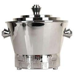 French Art Deco Machine Age Champagne Ice Bucket