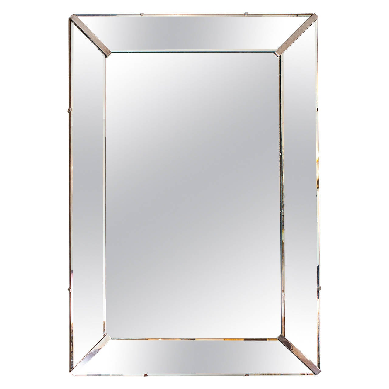 Elegant Art Deco Wall Mirror, France circa 1940 at 1stdibs