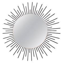Very Large 180 cm diameter Sunburst Mirror, France, circa 1955