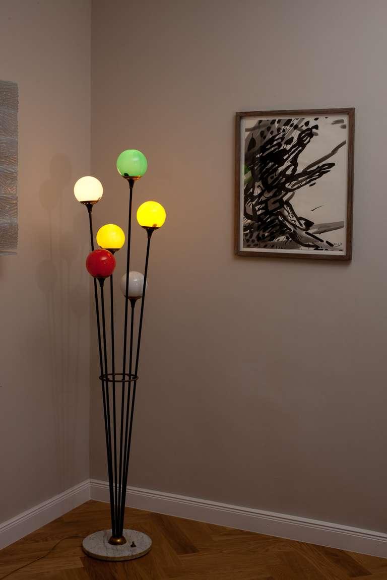 Italian Floor Lamp Attributed To Stilnovo,  Italy Circa 1950 3