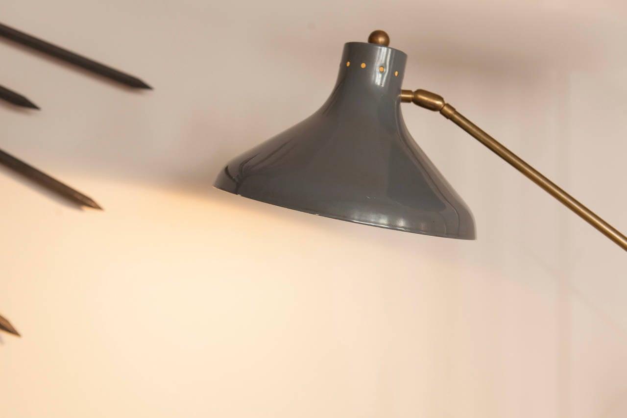 Metal Italian Floor Lamp, Italy, circa 1950 For Sale