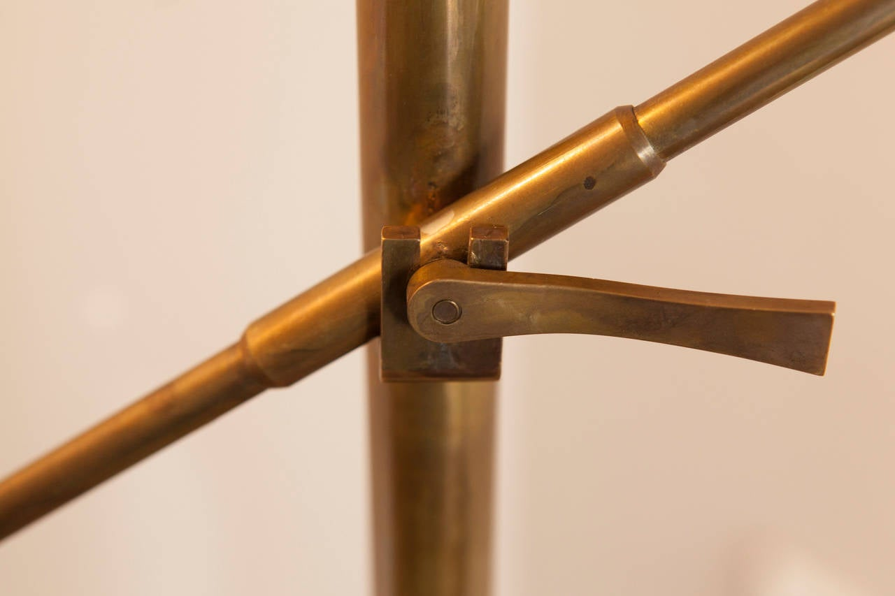 Lacquered Italian Floor Lamp, Italy, circa 1950 For Sale