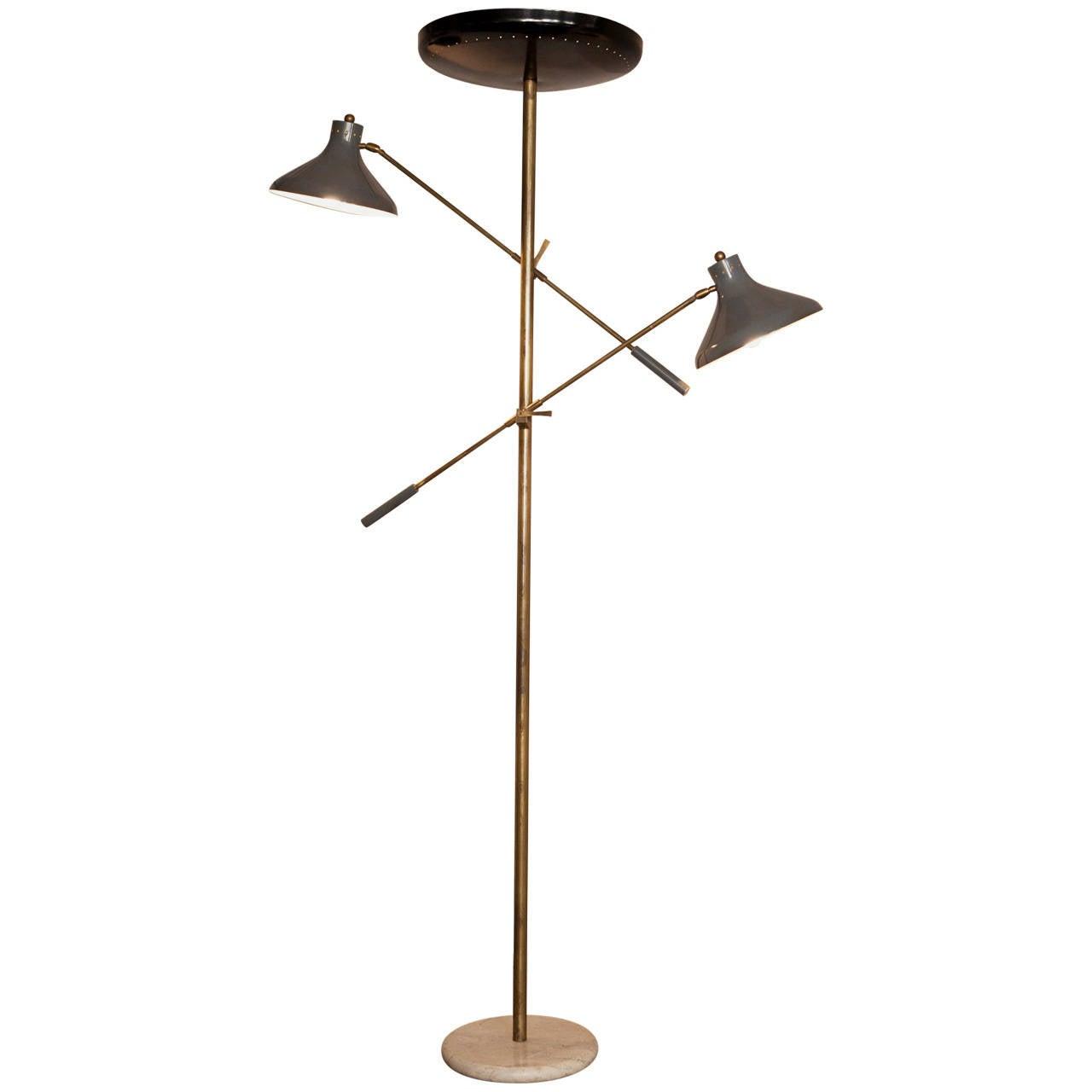 Italian Floor Lamp, Italy, circa 1950 For Sale