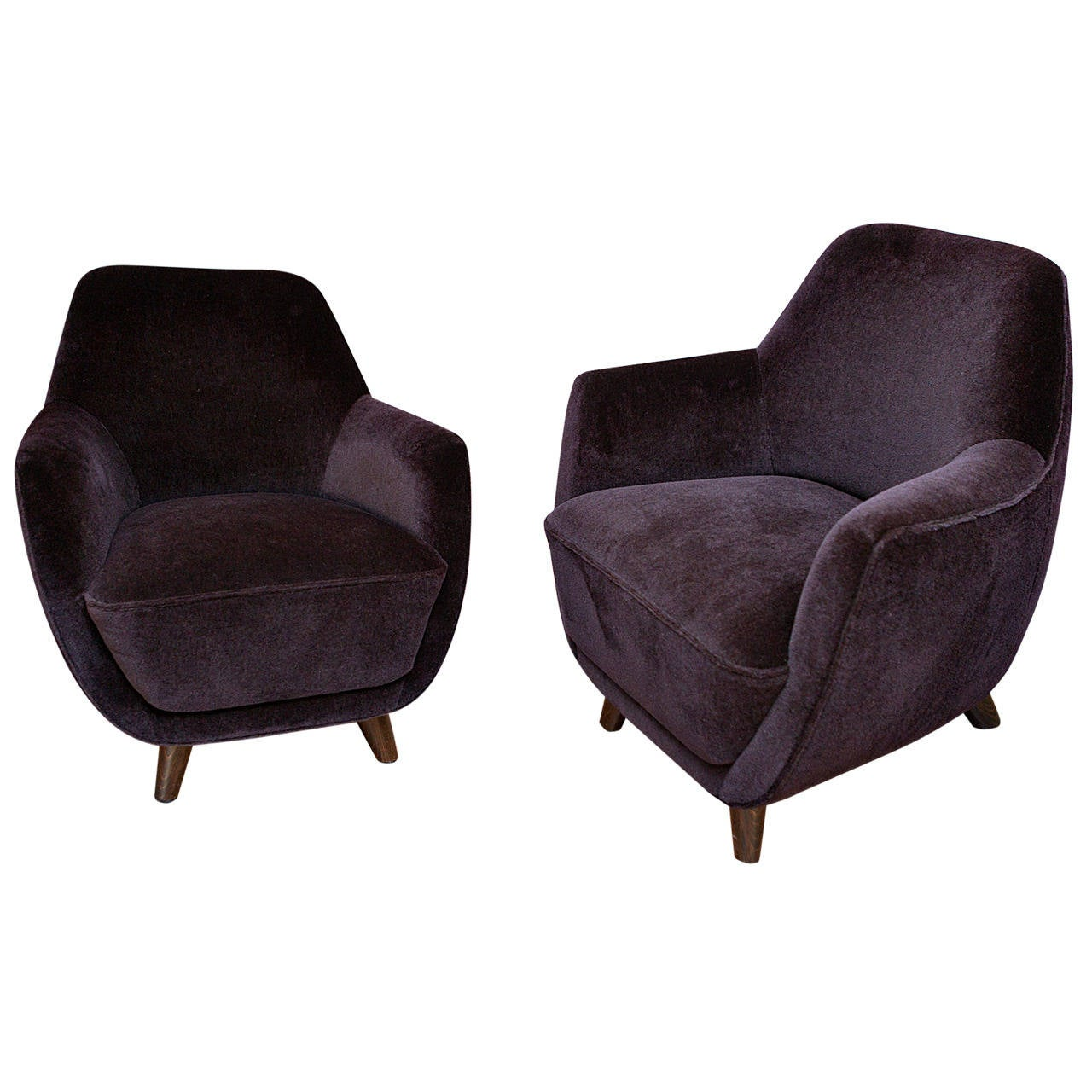 Pair of Chairs by Gio Ponti, Italy For Sale