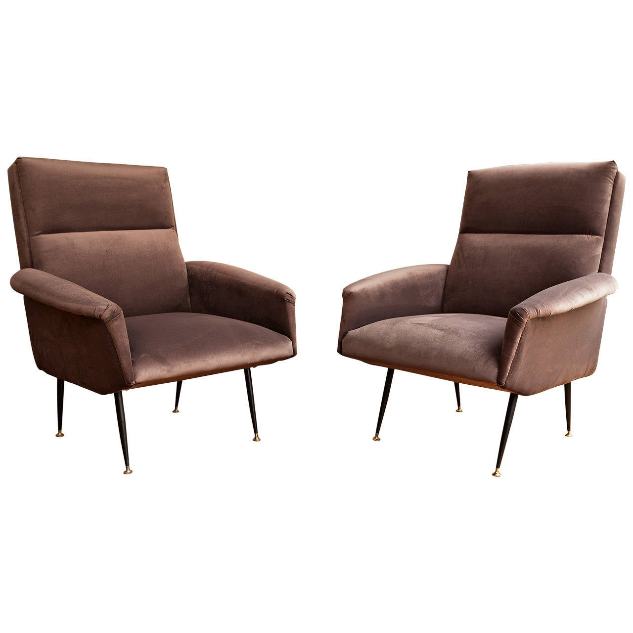 Pair of Armchairs, Italy circa 1950