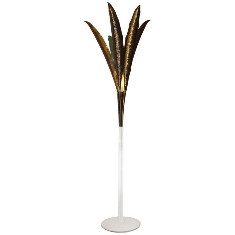 Angelo Lelli, Large Palm Floor Lamp, Arredoluce, Italy, 1958