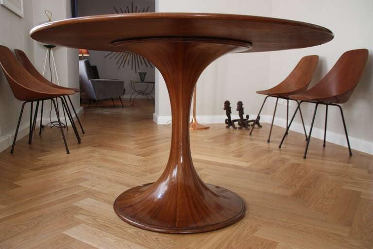 Luigi Massoni Pedestral Dining Table Rosewood Italy 1967 3