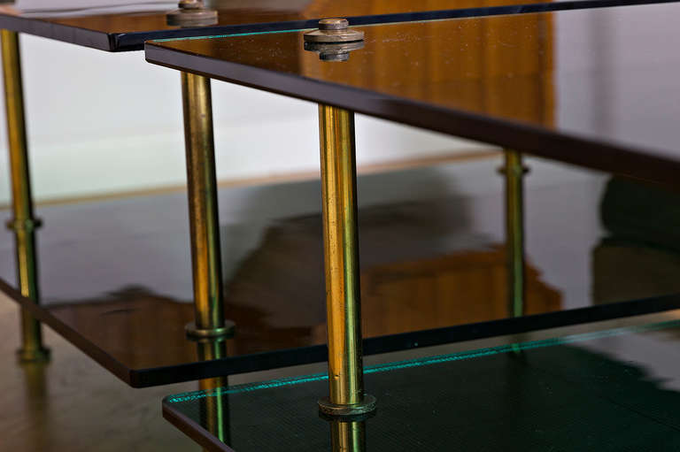 Sofa Tables By Raphael In Green Glass By Saint Gobain