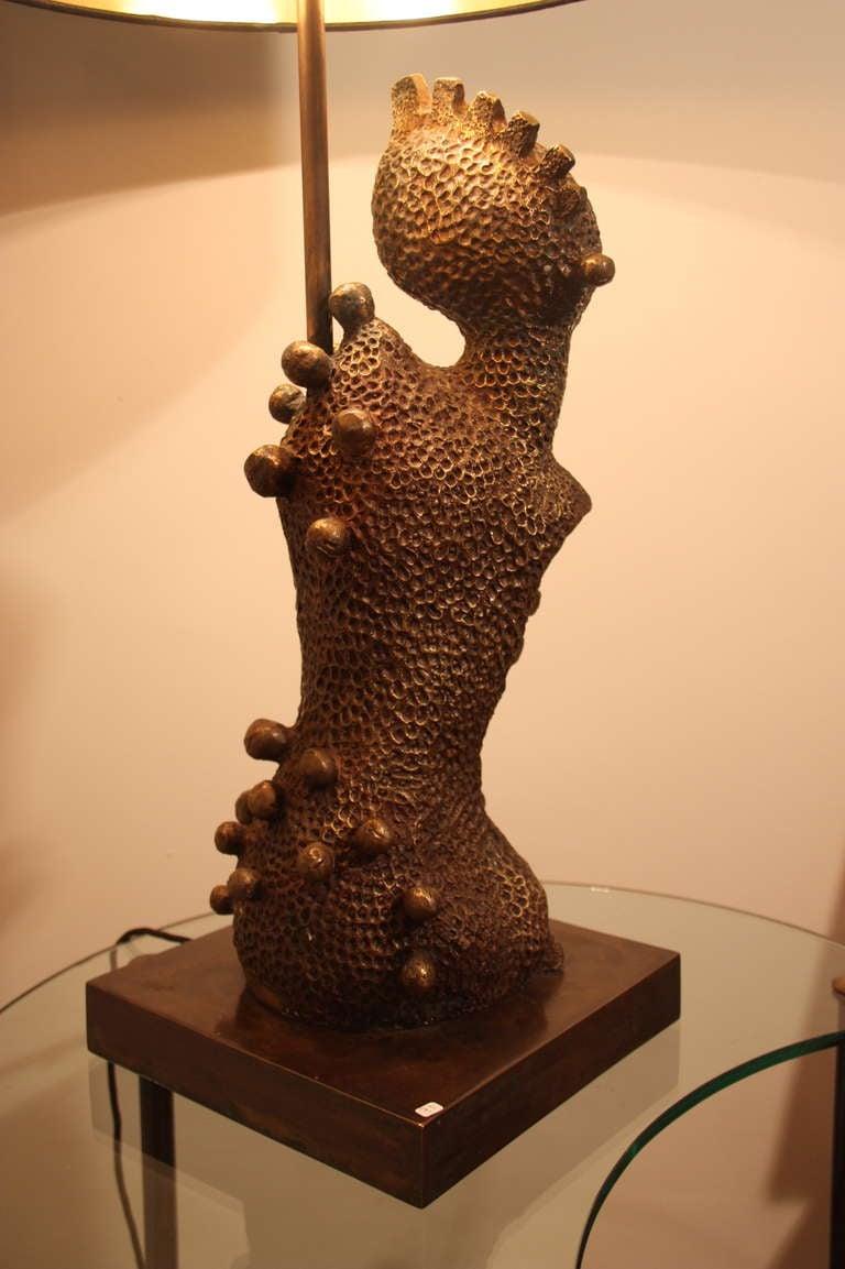 Surreal Bronze Sculpture Table Lamp France Circa 1970 At 1stdibs