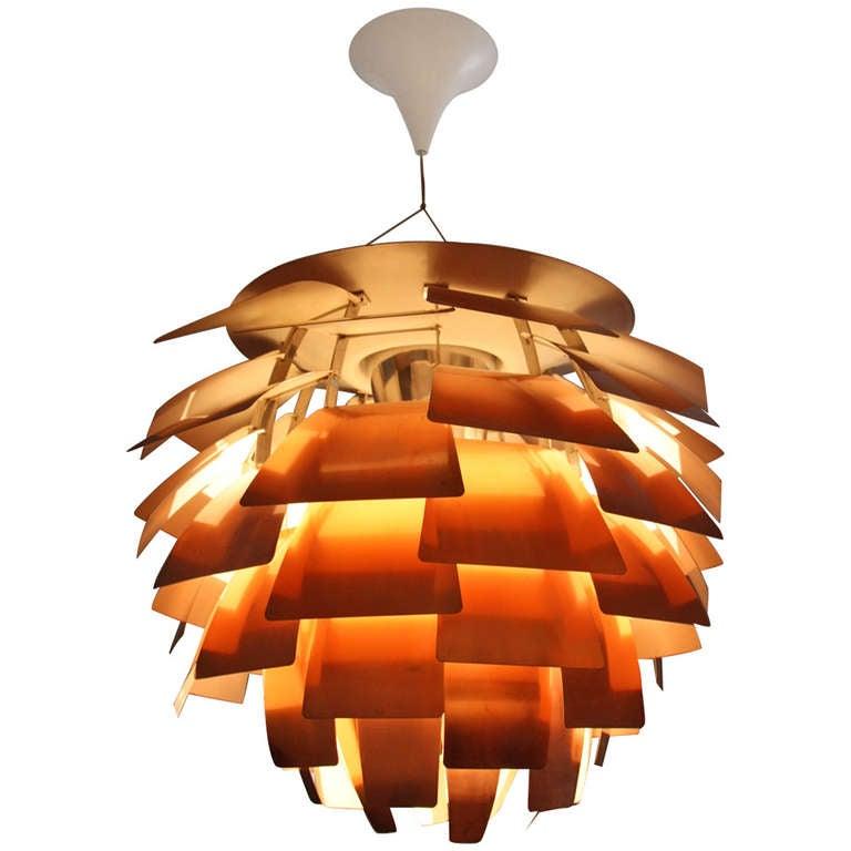 Lamp 1960 Novelty Lighting : Louis Poulsen Artichoke Lamp by PH c.1960, Diam 84cm at 1stdibs