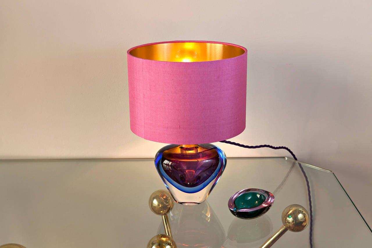 Flavio Poli Table Lamp for Seguso, Italy circa 1950 For Sale 1