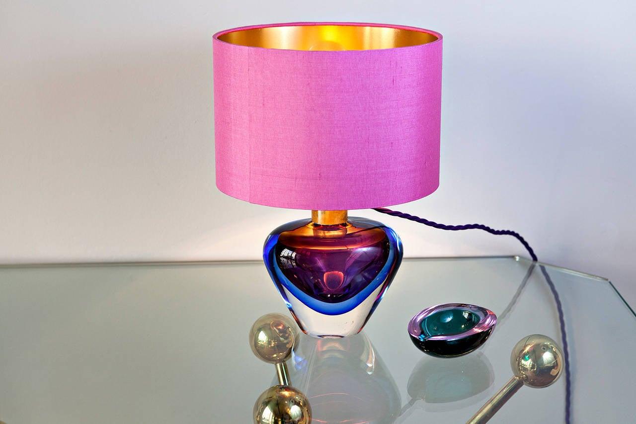 Italian Flavio Poli Table Lamp for Seguso, Italy circa 1950 For Sale