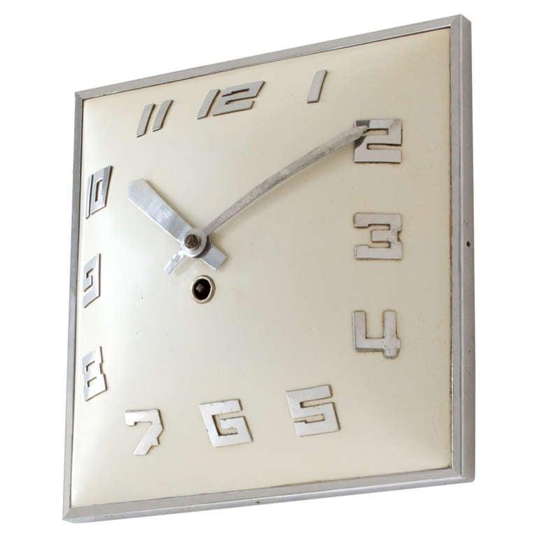 Art deco wall clock at 1stdibs for Art deco wall art