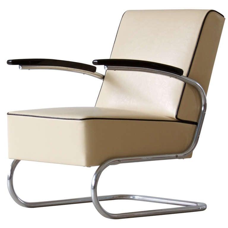 Bauhaus Tubular Steel Lounge Chair At 1stdibs