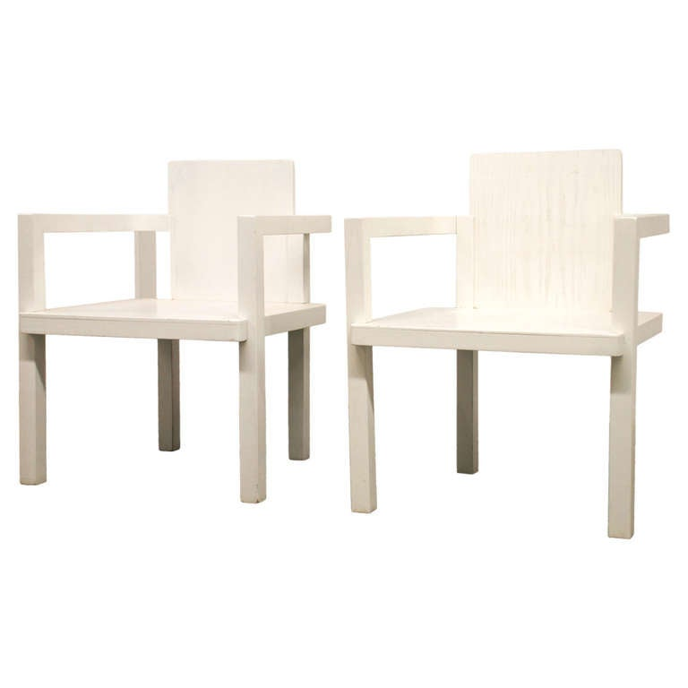 Walter Gropius D 51 Two Armchairs 1922 1923 At 1stdibs