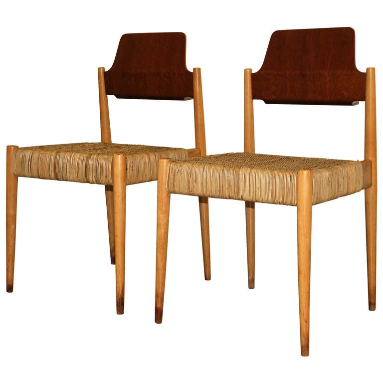pair of egon eiermann s19 chairs wilde and spieth at 1stdibs. Black Bedroom Furniture Sets. Home Design Ideas