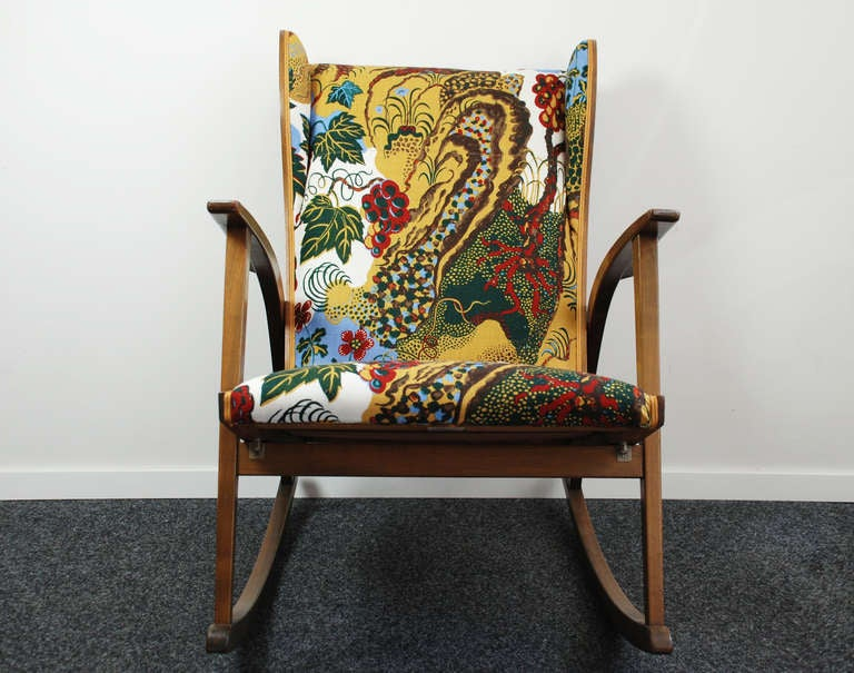 fresh collection of fabric rocking chair
