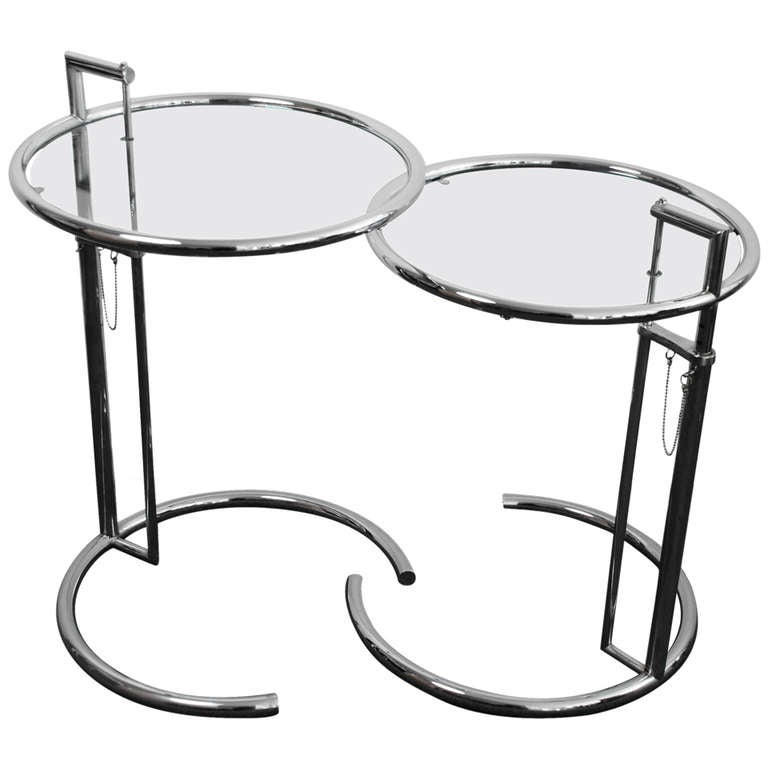Pair Of Side Tables E 1027 Eileen Gray 1927 At 1stdibs
