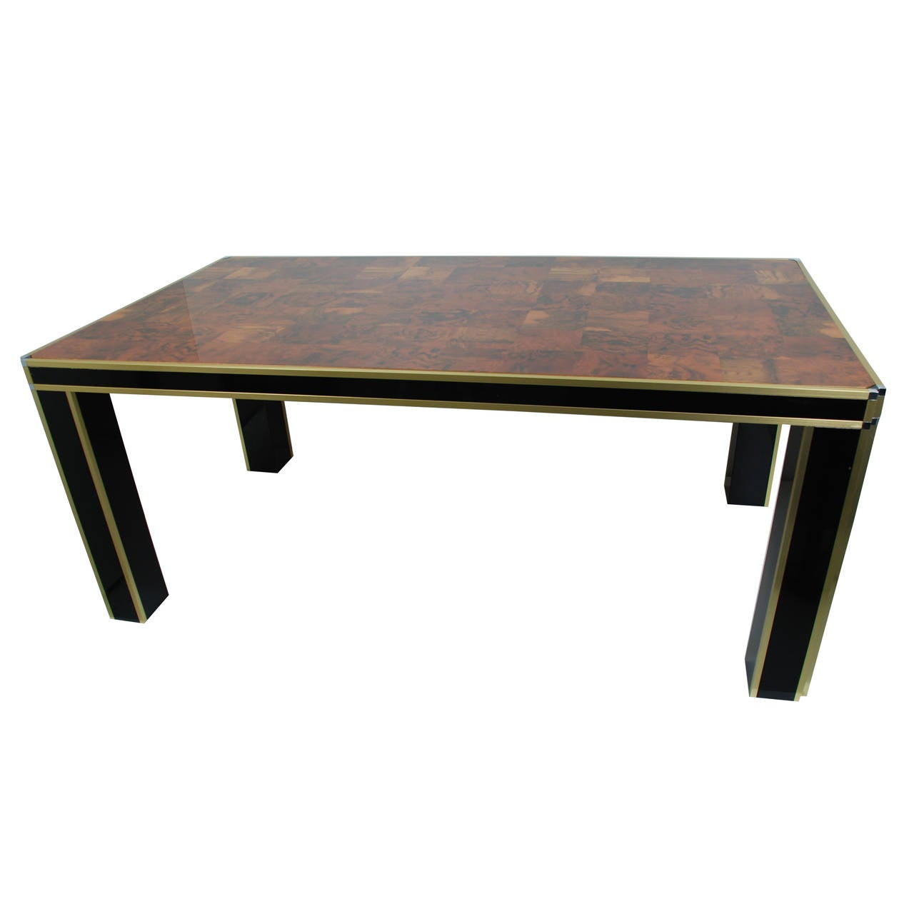Dining table in the style of willy rizzo at 1stdibs for Table willy rizzo