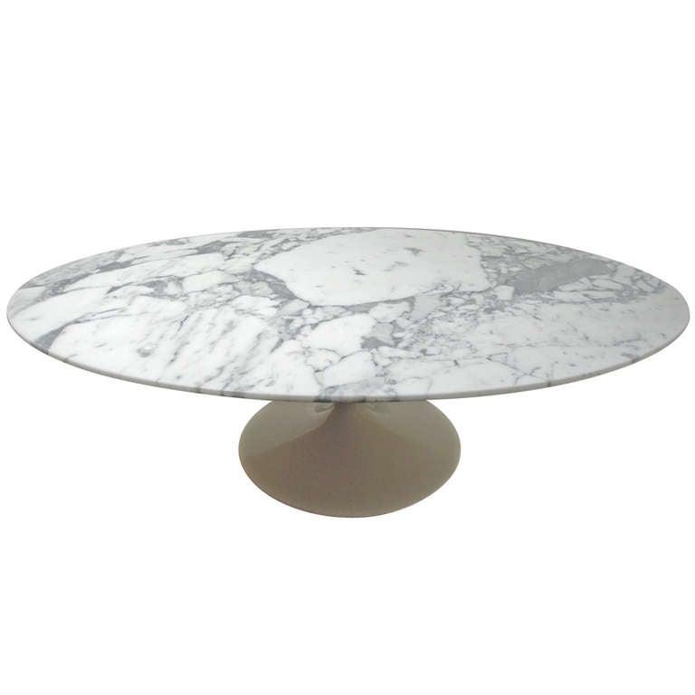 """Oval Pedestal Coffee Table: Eero Saarinen """"167 MC"""" Oval Pedestal Coffee Table, 1957 At"""