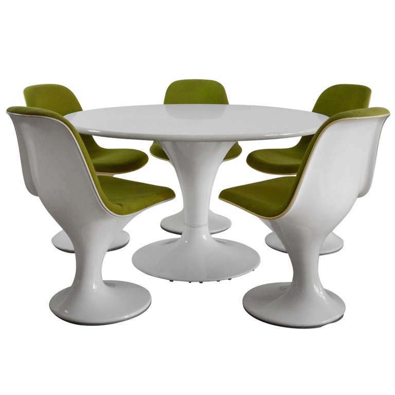 Rare dining set with orbit chairs for herman miller at for Kopie eames chair