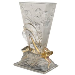 Very Rare Locuste Vase by Cristallerie de Baccarat