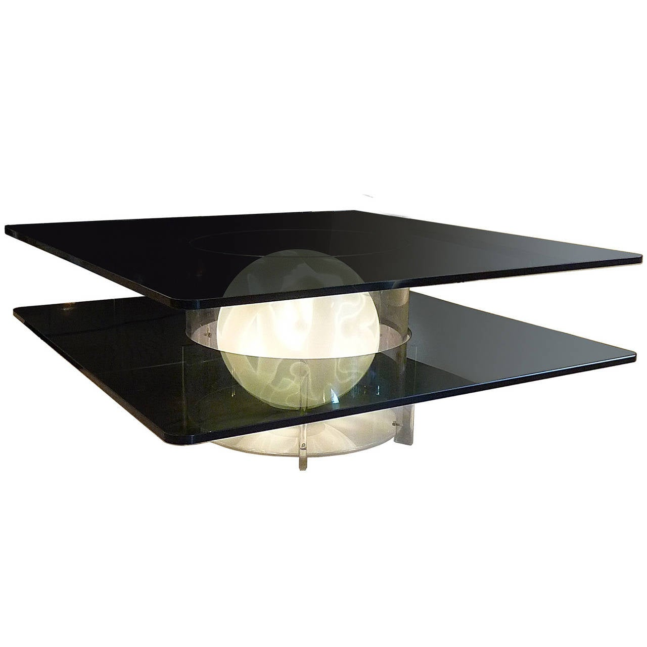 Unique Murano Illuminated Coffee Table For Sale At 1stdibs