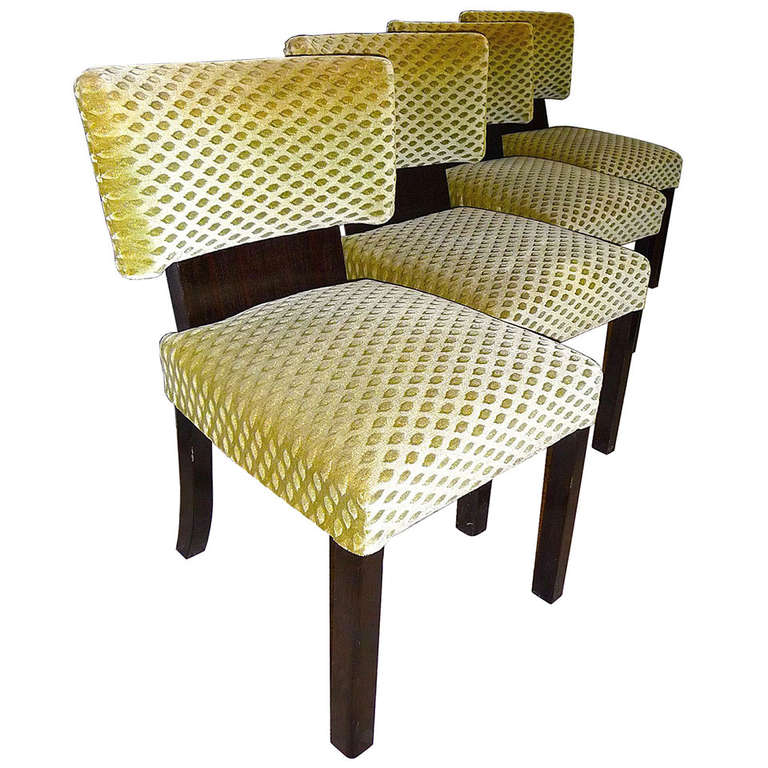 Very comfortable set of four bauhaus art deco dining room - Four dining room chairs set ...