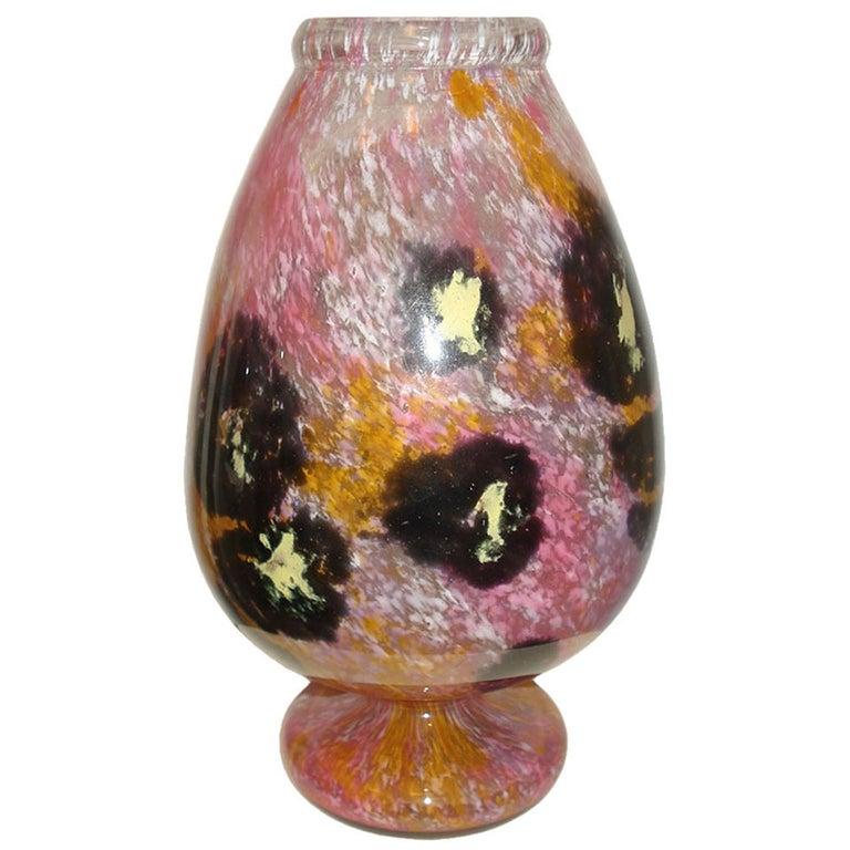"""Schneider Art Deco """"Jade"""" Vase For Sale"""