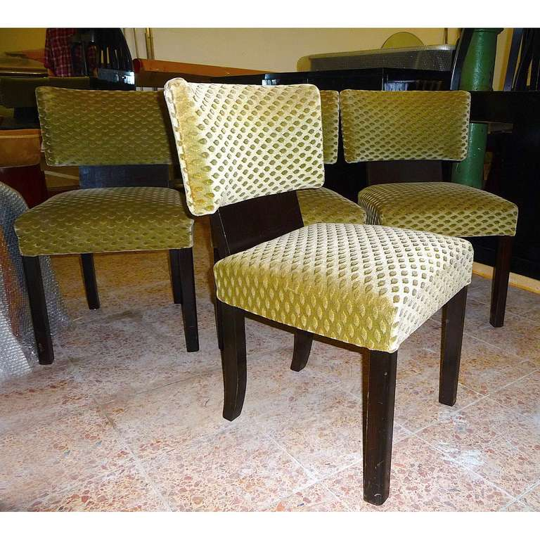Very fortable Set of Four Bauhaus Art Deco Dining Room