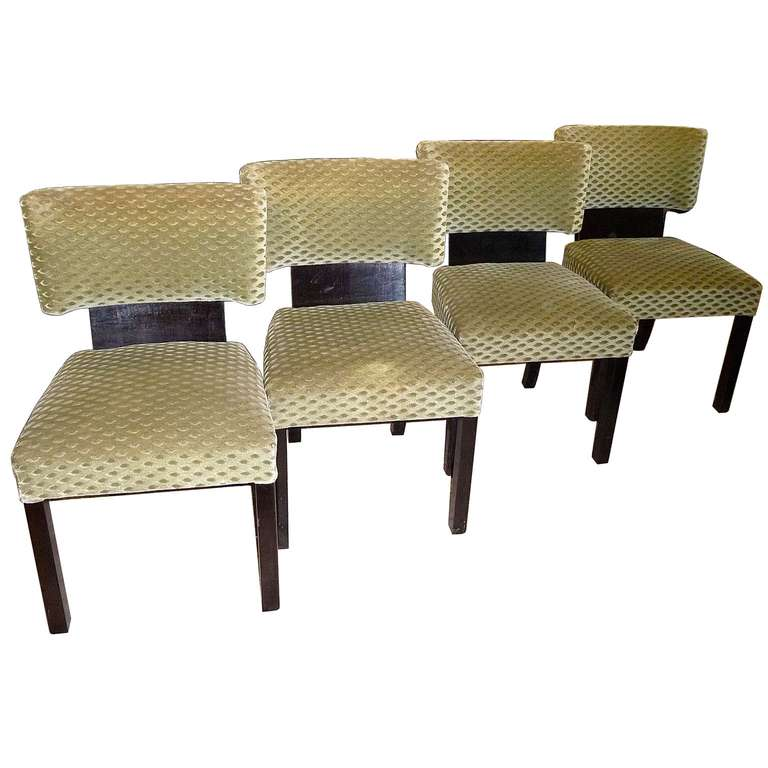 Very Comfortable Set Of Four Bauhaus Art Deco Dining Room