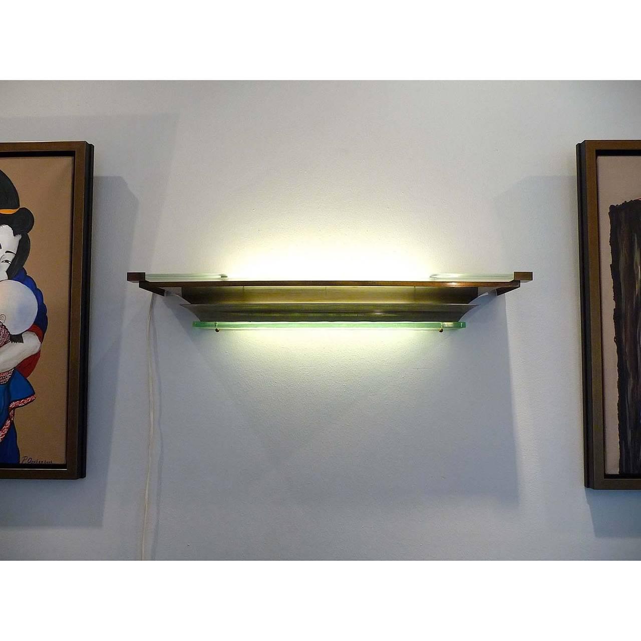 impressive large french art deco applique wall light. Black Bedroom Furniture Sets. Home Design Ideas