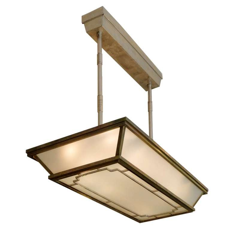 Extremely Large Important Art Deco Ceiling Lamp At 1stdibs